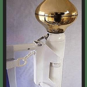 Braccio portabandiera rotante issidabile, in alluminio anodizzato