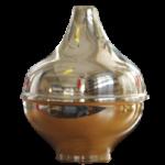 Pomolo in ottone a cipolla per pennoni diam 120 mm 1